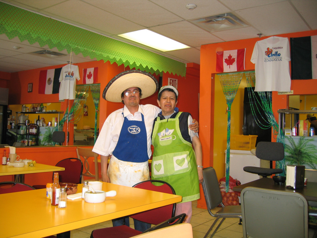 Chilo's Taqueria in 2006. Chilo on the left and Lupe on the right.