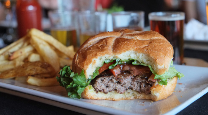 Burger & Beer at Pumphouse Taproom in Richmond