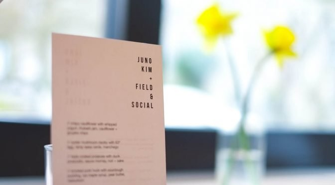 Brunch Quickie: 6 Course Brunch Pop-up by Juno Kim at Field & Social